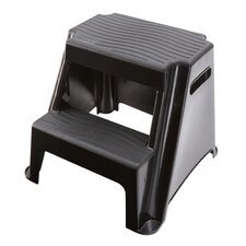 2-Step Molded Plastic Step Stool