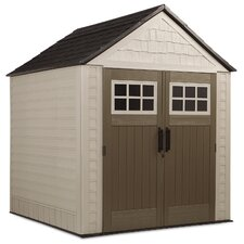 22.5in. W x 7.5ft. D Steel Storage Shed