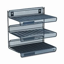 <strong>Rubbermaid</strong> Rolodex Mesh 3-Tier Letter Size Desk Shelf