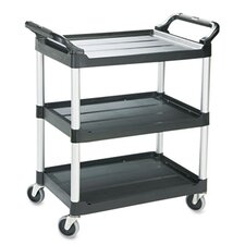Commercial Economy Plastic Cart, 3-Shelf, 18-5/8W X 33-5/8D X 37-3/4H