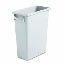 Slim Jim 15.88-Gal. Rectangle Waste Container with Handle