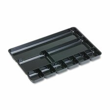 <strong>Rubbermaid</strong> Regeneration 9-Section Drwr Organizer, Plastic, Black