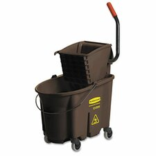 <strong>Rubbermaid</strong> Wavebrake 35-Quart Bucket/Wringer Combinations, Brown