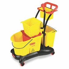 <strong>Rubbermaid</strong> Commercial Wavebrake 35-qt. Mopping Trolley Side Press