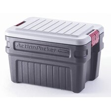 <strong>Rubbermaid</strong> 24 Gallon ActionPacker Storage Container in Black