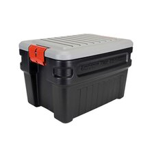 <strong>Rubbermaid</strong> Action Packer Storage Box in Black/Gray, 8 Gallon