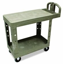 "<strong>Rubbermaid</strong> Commercial Flat Shelf Utility Cart, 19-1/5"" Wide"