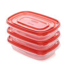 <strong>Rubbermaid</strong> 3 Piece Take Alongs Rectangular Container Set
