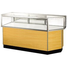 "<strong>Sturdy Store Displays</strong> Streamline 38"" x 68"" Jewelry Vision Corner Combination Showcase with Mirror Back"