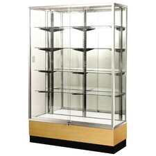 "<strong>Sturdy Store Displays</strong> Streamline 60"" x 15"" Trophy Case with Panel Back"
