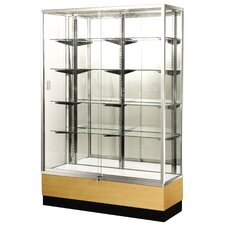 "<strong>Sturdy Store Displays</strong> Streamline 36"" x 18"" Trophy Case with Mirror Back"