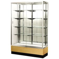 "<strong>Sturdy Store Displays</strong> Streamline 60"" x 18"" Trophy Case with Panel Back"