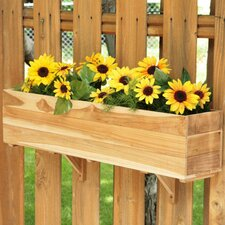 Teak Rectangular Window Box Planter