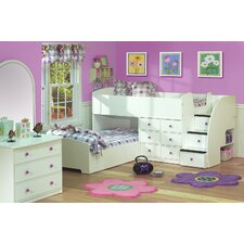 <strong>Berg Furniture</strong> Sierra Full over Twin L-Shaped Bunk Bed with Stairs