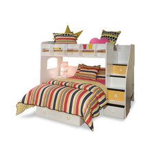 <strong>Berg Furniture</strong> Utica Loft Twin over Full L-Shaped Bunk Bed with Storage