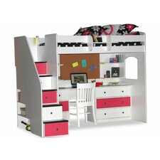 Utica Twin Dorm Loft Bed with Desk and Storage