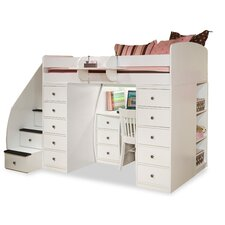 <strong>Berg Furniture</strong> Sierra Twin Space Saver Loft Bed with Desk and Storage