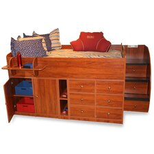 Sierra Twin Captain Bed with Stairs and Storage