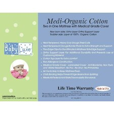 <strong>Baby Luxe by Priva</strong> Medi-Organic Medical Grade 2 in 1 Mattress