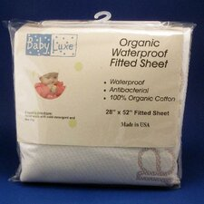 <strong>Baby Luxe by Priva</strong> Organic Waterproof Fitted Sheet