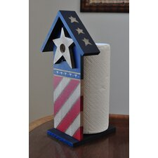 <strong>Shine Company Inc.</strong> Patriotic Paper Towel Holder (Set of 2)
