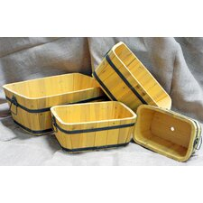 <strong>Shine Company Inc.</strong> Rectangular Cedar Barrel (Set of 4 )