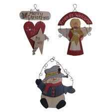 3 Piece Christmas Wall Decor Set