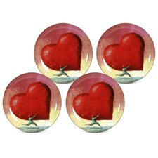 "All Heart 8"" Dessert / Salad Plate (Set of 4)"