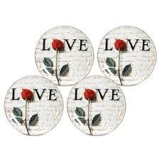 "Love Letters 8"" Dessert / Salad Plate"