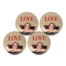 "Love Cupid 8"" Dessert / Salad Plate (Set of 4)"
