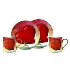 All Heart 3 oz. Espresso Cup and Saucer
