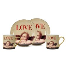 Love Cupid 3 oz. Espresso Cup and Saucer