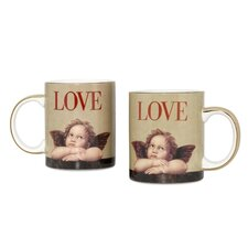 Love Cupid 12 oz. Coffee Mug (Set of 2)