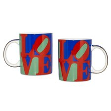 "Robert Indiana ""Love"" Coffee 12 oz. Mug (Set of 2)"