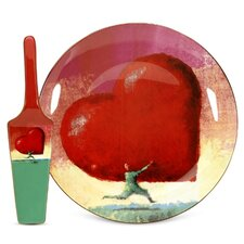 All Heart Cake Plate and Server