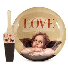 Love Cupid Cake Plate and Server