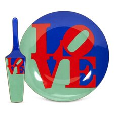 Robert Indiana Love Cake Plate and Server