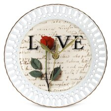 "Love Letters 8"" Wall Clock"