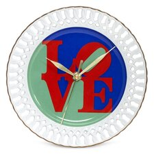 "Robert Indiana ""Love"" Porcelain Wall Clock"