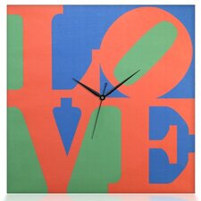 "Robert Indiana ""Love"" Square Canvas Wall Clock"