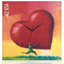 All Heart Canvas Wall Clock