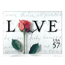Love Letters Canvas Wall Clock