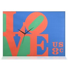 "Robert Indiana ""Love"" Canvas Wall Clock"