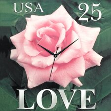 Love Rose Canvas Wall Clock