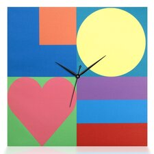 Mod Love Square Canvas Wall Clock