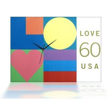 <strong>PS Collection</strong> Mod Love Canvas Wall Clock