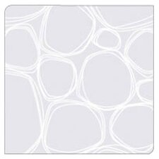 Coaster Notes Pebbles in White on Clear Base (Set of 4)