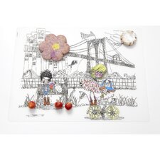 City Kidz  Placemat in Black