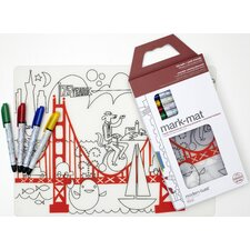 <strong>Modern-Twist</strong> Mark-mat Kid Box Fun on the Golden Gate + 4 Markers