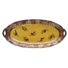 "<strong>Certified International</strong> French Olives Fish 20.5"" Oval Platter"